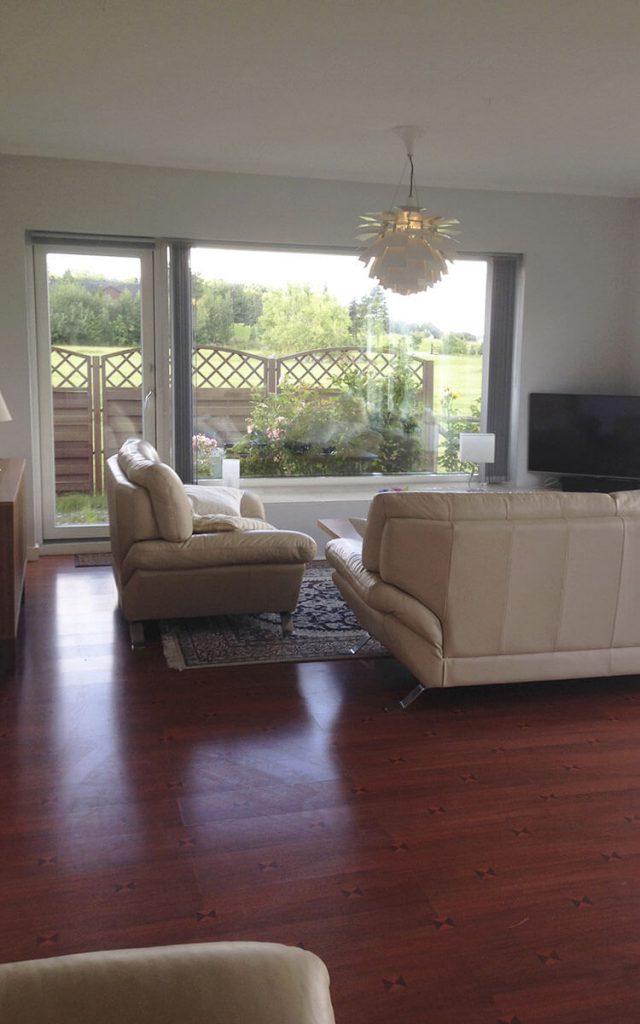 Midlertidig bolig stue - Rækkehus 402 B - mere plads end du finder i en lejlighed i Roskilde