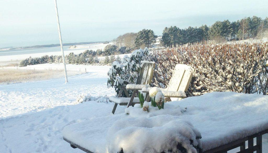 Englegaaden når det sner, hvis du skal havde en lejlighed over vinteren